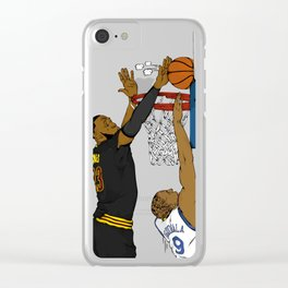 The block Clear iPhone Case
