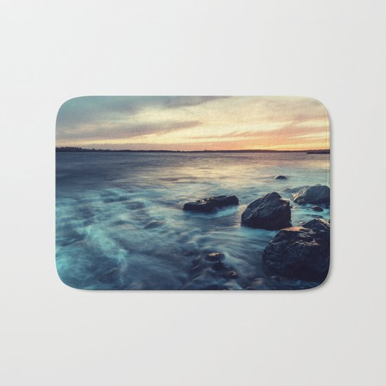 Sunset on the Breakwater Bath Mat