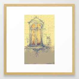 Window in Christiania Framed Art Print