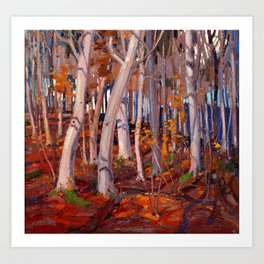 Tom Thomson - October - Canada, Canadian Oil Painting - Group of Seven Art Print