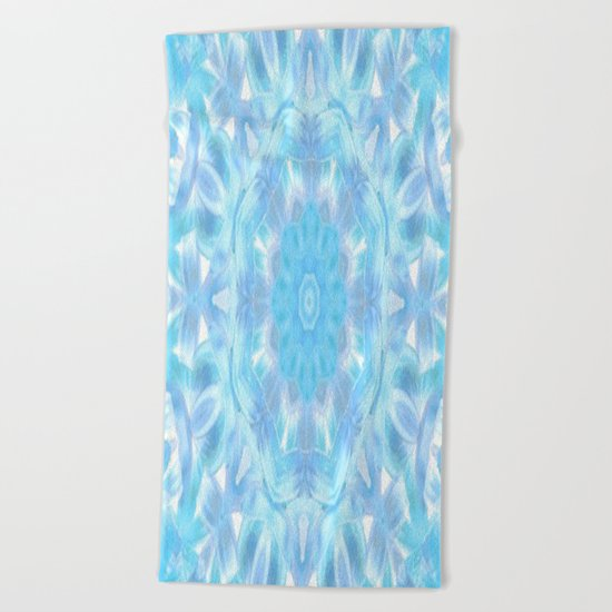 Soft Shades of Color Kaleidoscope Beach Towel