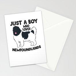Newfoundland Dog Just a Boy Who Loves Newfoundland Dogs Stationery Cards