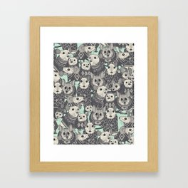 sweater mice mint Framed Art Print