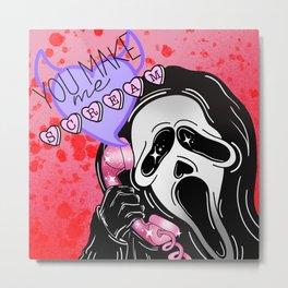 Horror you make me scream Metal Print