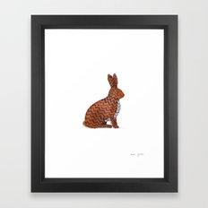 zig zag rabbit Framed Art Print