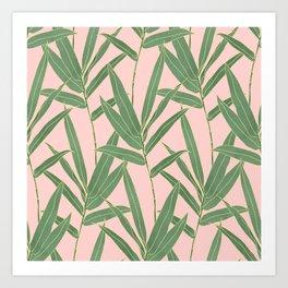 Elegant bamboo foliage design Art Print