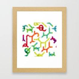 Balloon animals pattern #2 Framed Art Print