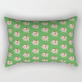 Santa Hippos Rectangular Pillow