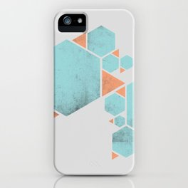 Geometric Hexagons and Triangles iPhone Case
