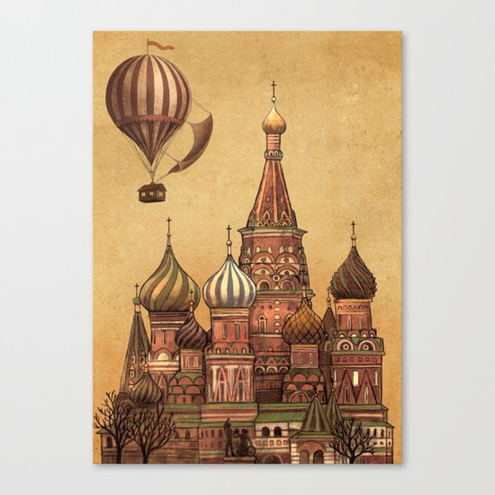 Trip to Moscow Canvas Print