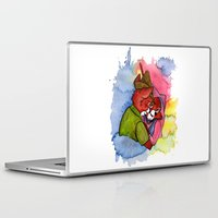 robin hood Laptop & iPad Skins featuring Robin Hood and Maid Marian by KitschyPopShop