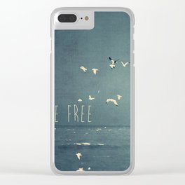 typography Clear iPhone Case
