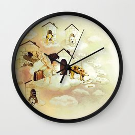 Stealing Doggy House Wall Clock