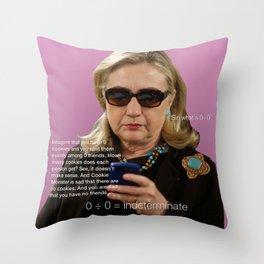 Hillary vs Siri Throw Pillow