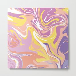 Abstract Marble Pattern 5 Metal Print