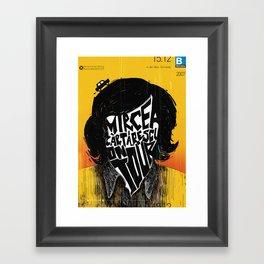 Mircea Cartarescu on tour Framed Art Print