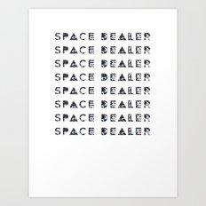 Space dealer Art Print