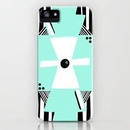 Otavalo Turquoise Stripes iPhone Case