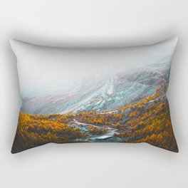 Aerial View Of Orange Autumn Forest Appalachian Mountains Rectangular Pillow