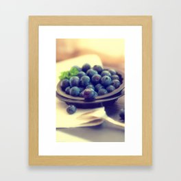 Blueberry plate Framed Art Print
