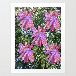 Flowers in Trees Art Print