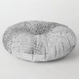 Abstract silver glitter modern geometric elegant pattern Floor Pillow