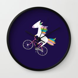 bike unicorn  Wall Clock