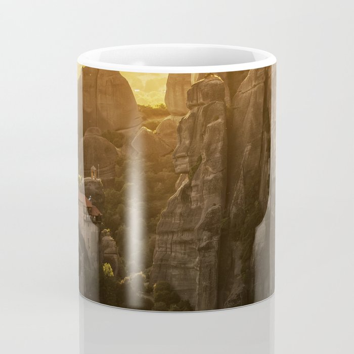 Golden hour at Meteora Coffee Mug
