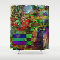 american Shower Curtains featuring American dream by Ganech joe