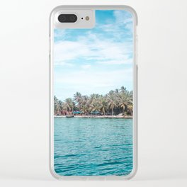 Blue and turquoise paradise of the San Blas Islands, Panama in the Caribbean Sea Clear iPhone Case