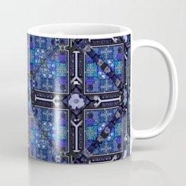 no. 144  blue flower pattern Coffee Mug