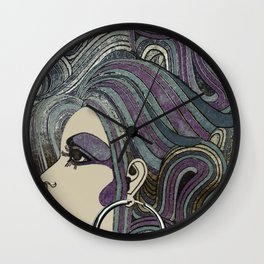 Seventies Girl Wall Clock