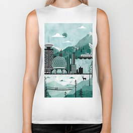 Vancouver Travel Poster Illustration Biker Tank