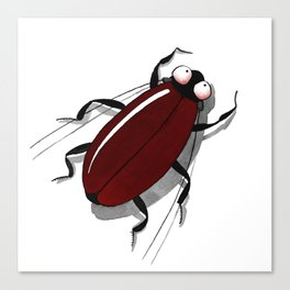 Bug me in red. Canvas Print