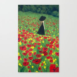 Mourning Lady Canvas Print