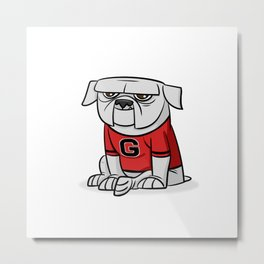 Bulldog from Georgia Metal Print