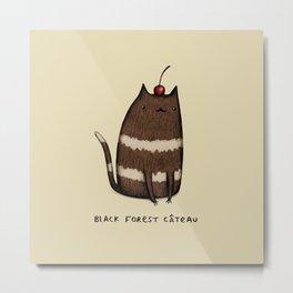 Black Forest Câteau Metal Print