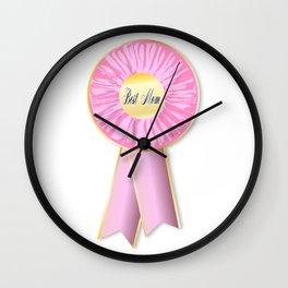 Best Mom Rosette Wall Clock