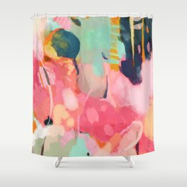 spring moon earth garden Shower Curtain