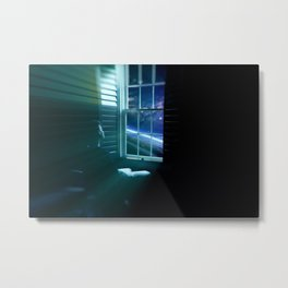 Looking out window into space Metal Print