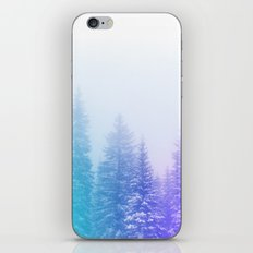 Blue and Purple Pines iPhone & iPod Skin