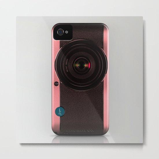 Vintage Camera III - Rosé Gold Metal Print