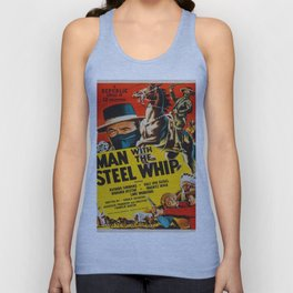 Vintage poster - Man with the Steel Whip Unisex Tank Top