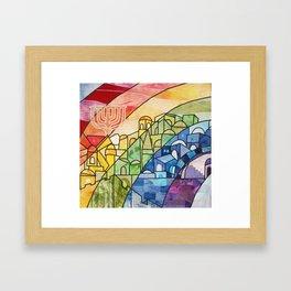 Jerusalem Rainbow Framed Art Print