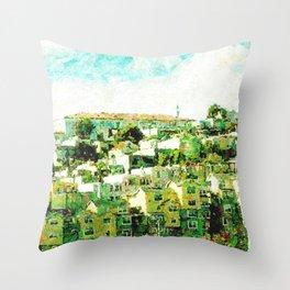 Hillside Homes San Francisco Throw Pillow