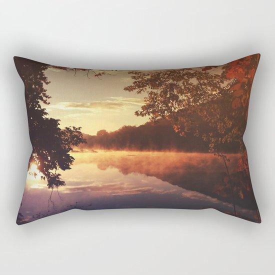Early morningsun- Forest Sun Lake Trees Rectangular Pillow