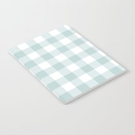 Charcoal Sky Checker Gingham Plaid Notebook