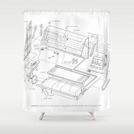 Korg MS-20 - exploded diagram Shower Curtain