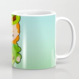 St. Patrick's Day: Lucky Leprechaun With Shamrock Coffee Mug