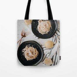 Summery Lemon Pasta // Cacio e Pepe Tote Bag